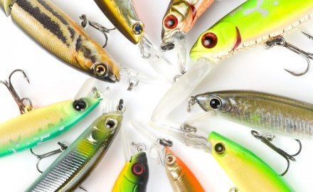 Jerkbaits are a good choice for bass in the early spring. (Shutterstock image)  Suspending