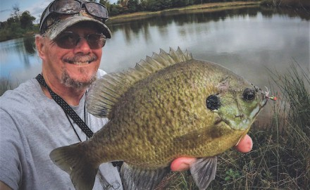 Jim Gronaw spends many days on the water in pursuit of panfish, and is quite successful. (Photo by