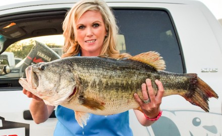 Stacy Spriggs, of Huntsville, caught this 13.06-pound bass on March 31 at Sam Rayburn Reservoir