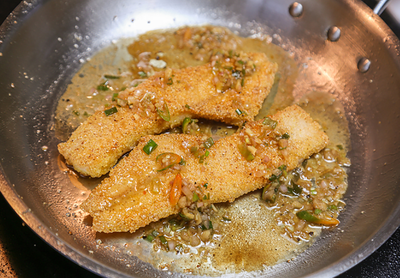 Crappie with Soy, Ginger and Orange Sauce Recipe