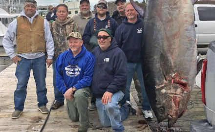 Scott Chambers (kneeling left) is credited with a state record in North Carolina for this huge