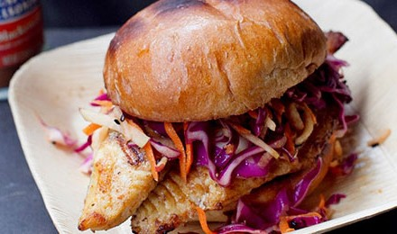 Blackened Catfish with Spicy Asian Slaw Recipe