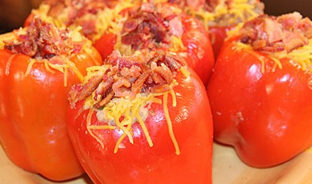 This Louisiana-inspired stuffed pepper dish is made with ground venison and crawfish tails