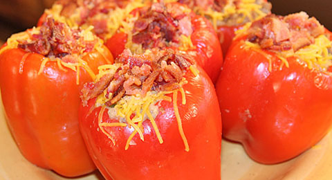 Venison and Crawfish Stuffed Bell Peppers Recipe