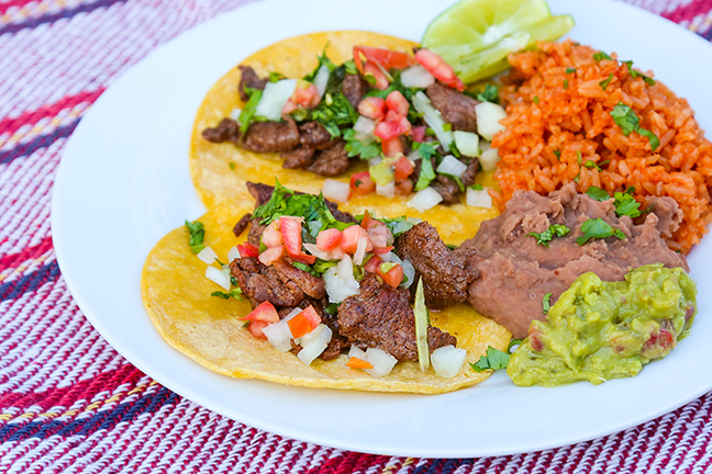 Venison Street Tacos with Mexican Rice and Beans Recipe
