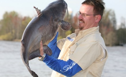 The most important catfish gear is what's at the end of the line. (G&F photo)  Catching big