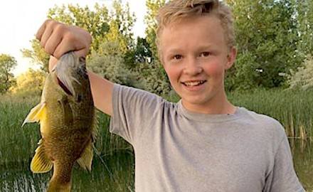 At first, Wyoming angler Chris Castleman thought this state-record green sunfish was a bass.