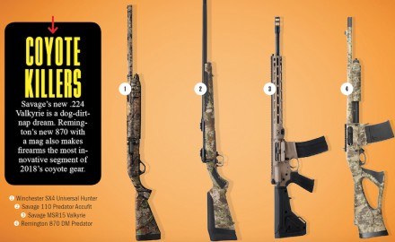 Here's a look at some of coyote hunting rifles and shot gun featured in this summer's Game & Fish 2018 Gear Guide magazine.