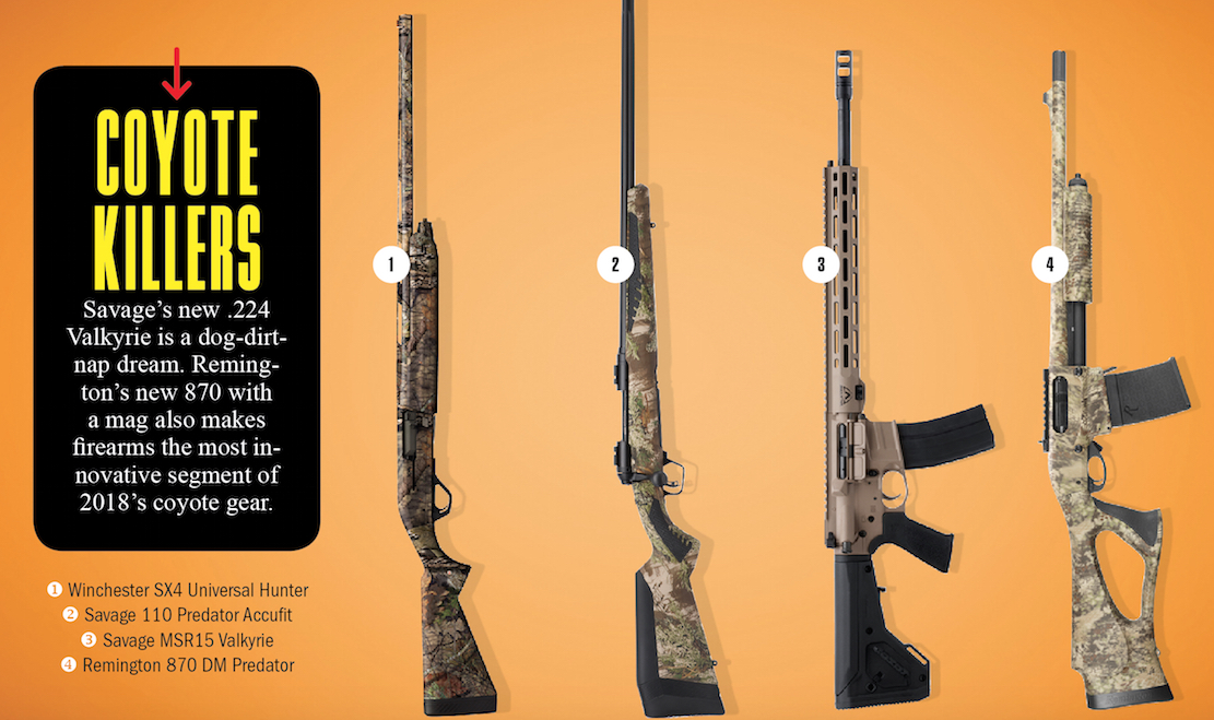 Gear Reviews: New Coyote Hunting Rifles, Shotguns