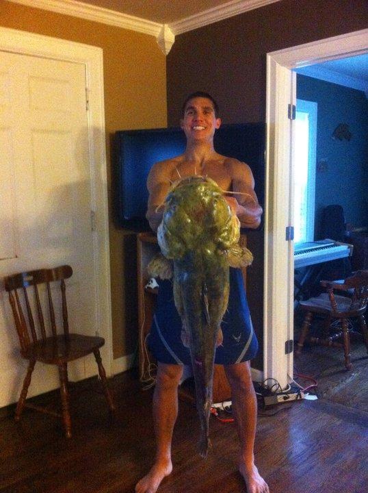 25 lb Flathead, 6# mono, Flips my kayak!!