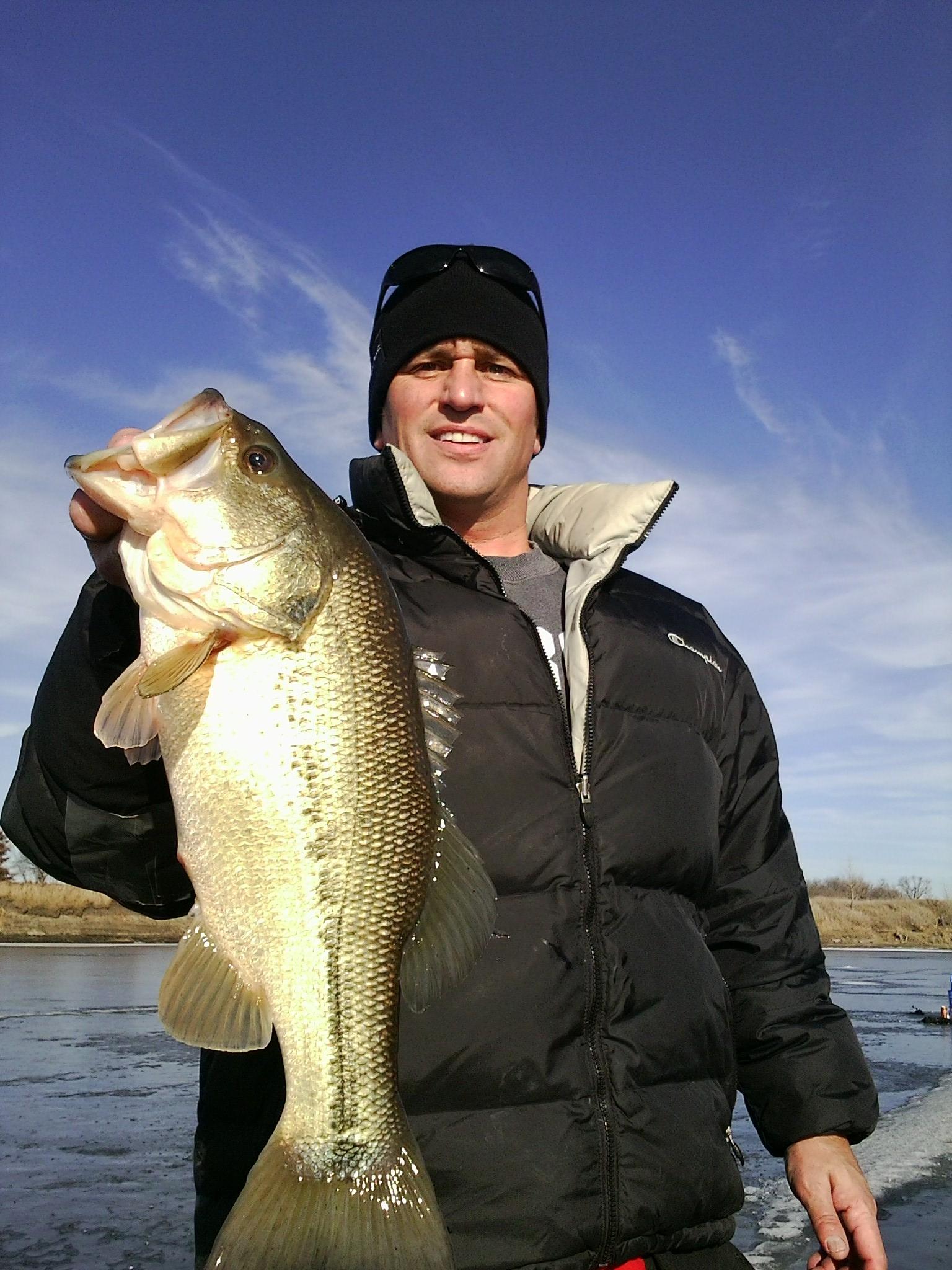 Hog bass through the ice
