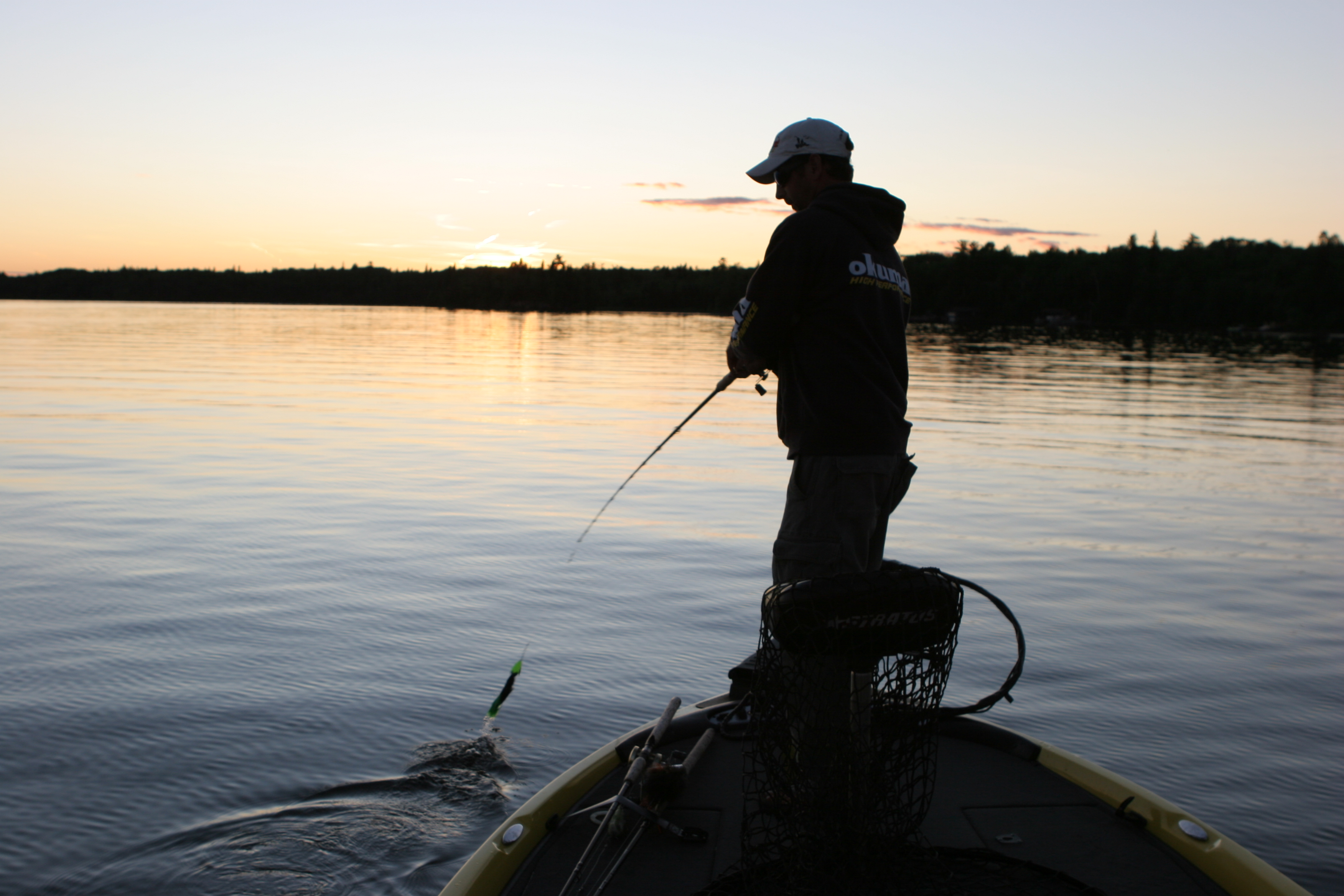 Muskie fishing on Canadian waters.