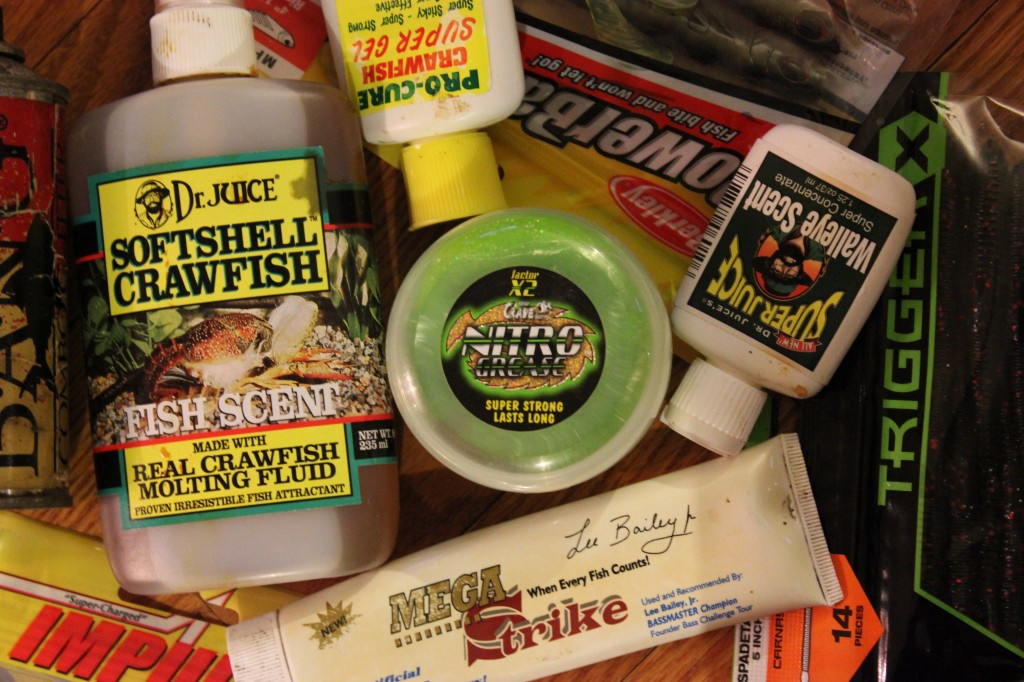 Scents and more scents that attract fish and fishermen