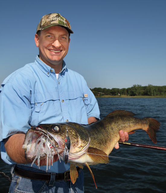 Trolling bass-style spinnerbaits for walleye; update