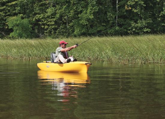 Small Boat Bass Fishing