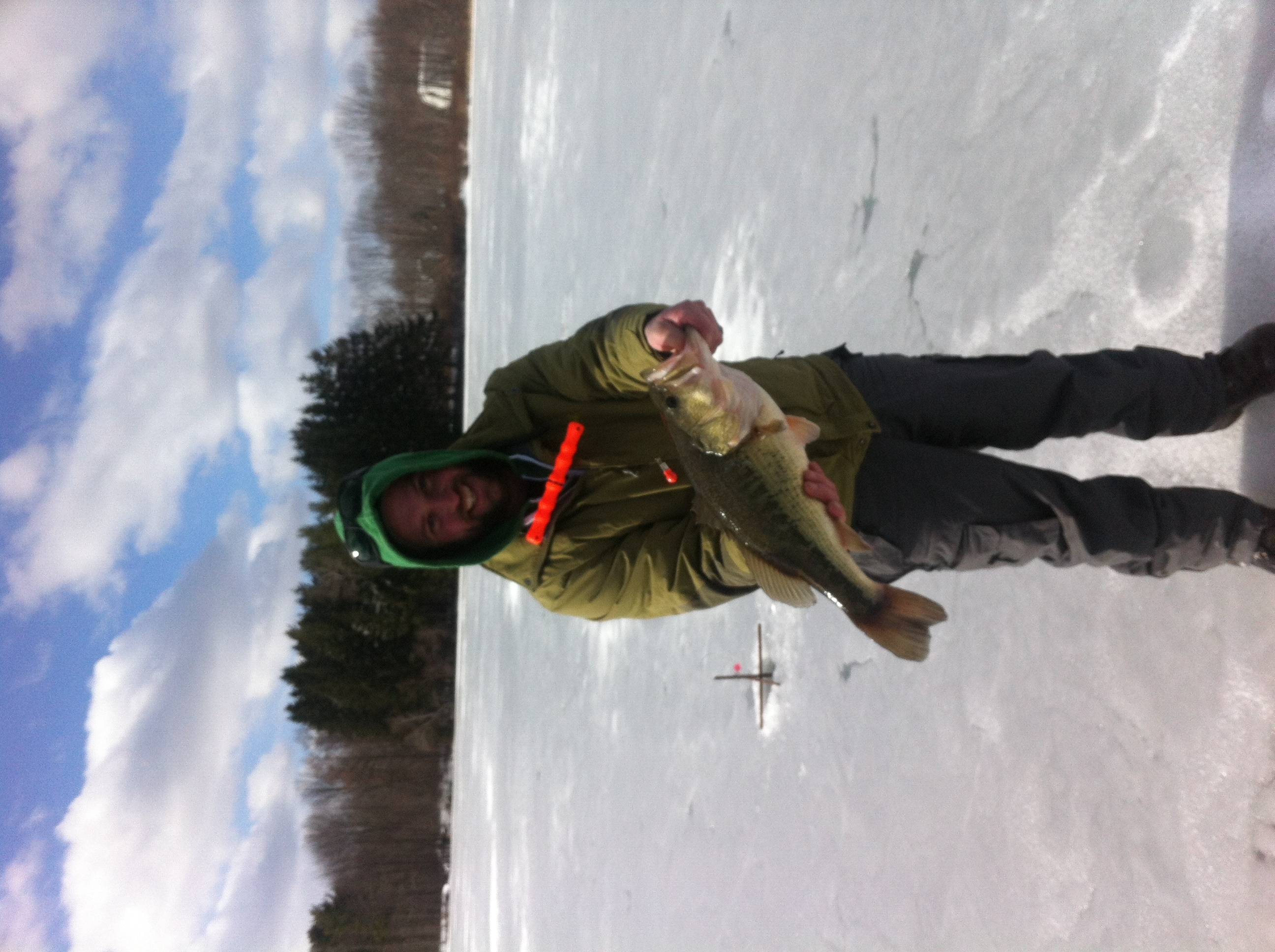 Biggest Bass I Caught Threw the ICE