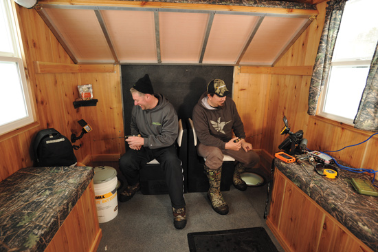 Tricked Out Ice Fishing Houses