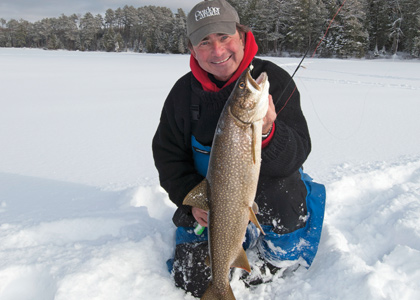 The Window: Wide Open for Lake Trout Ice Fishing