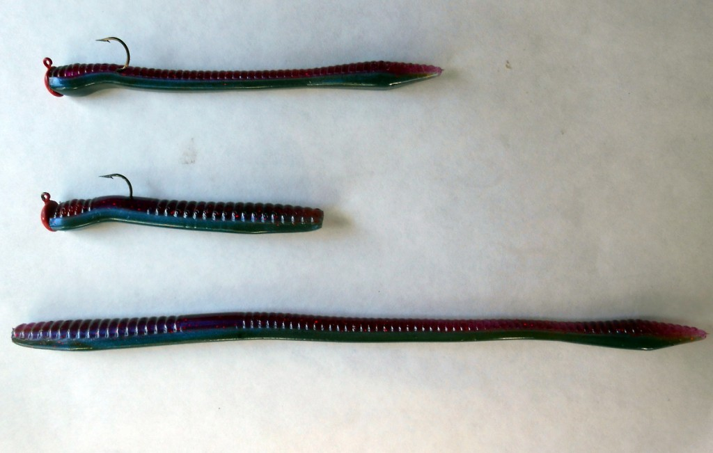 "Pearl White 2 Packs NetBait 9/"" T-MAC Worms Soft Plastic Fishing Baits"