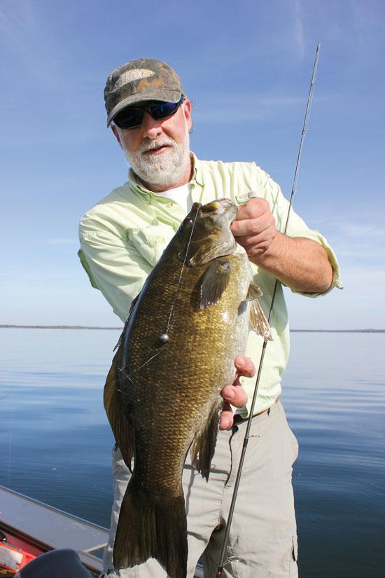 Drop Shot Rigging for Deep Smallmouth Bass