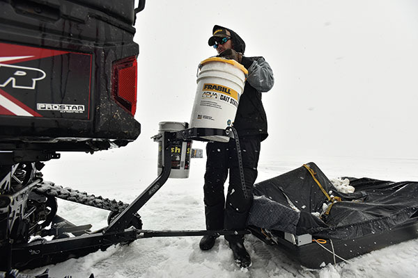 ATV Attachment for Ice Fishing