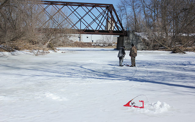 Ice Fishing for Smallmouth