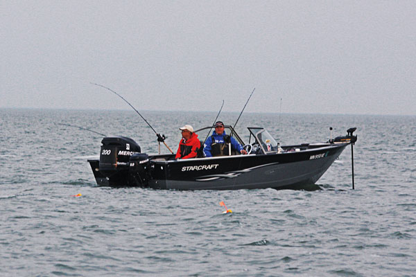 Trolling for Walleye During Summer