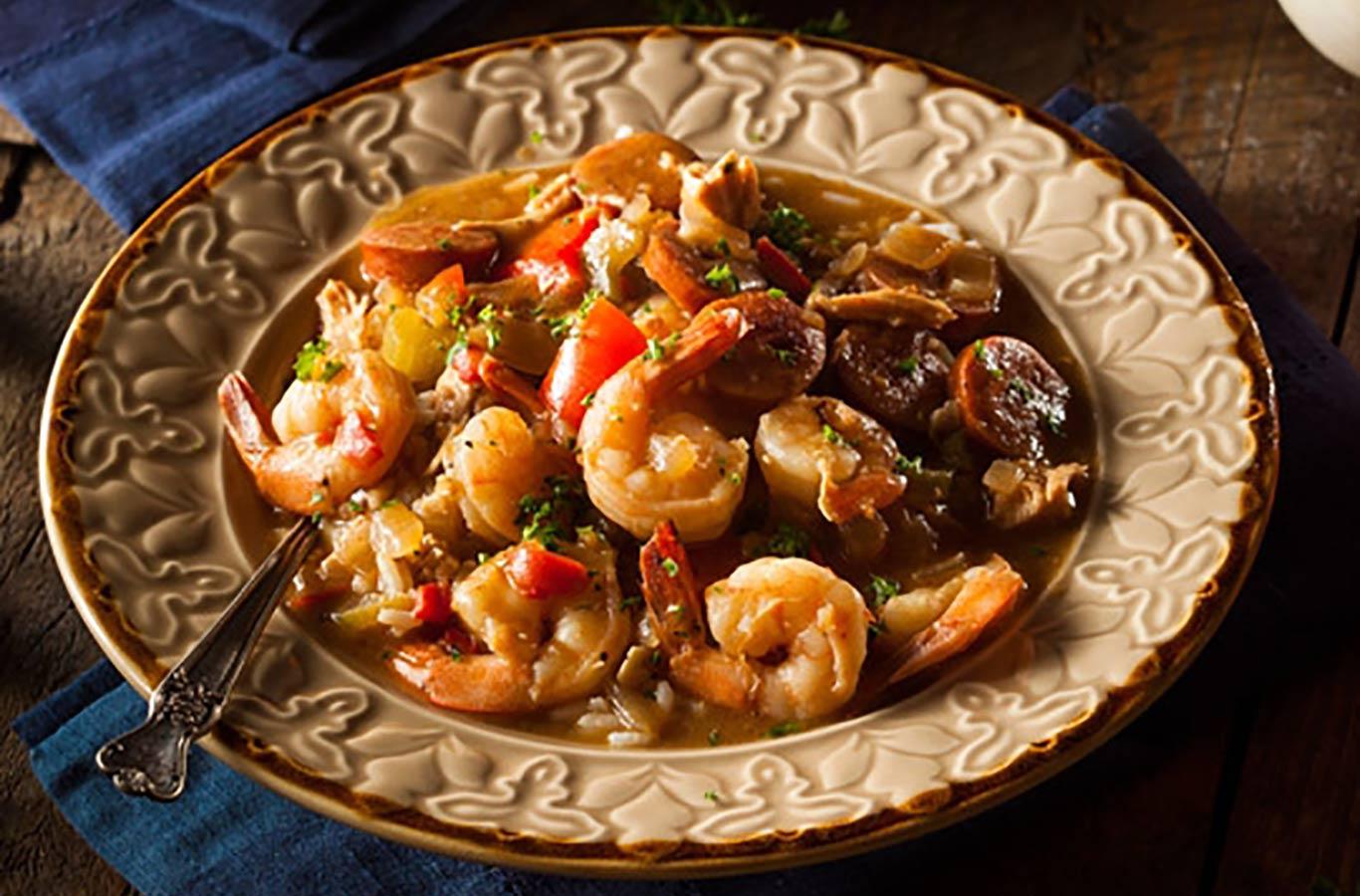 Seafood and Sausage Gumbo Recipe