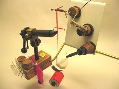 Jesse Scott of Everett, Washington, has invented a device to help wounded soldiers tie flies with