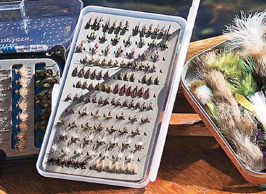 The Super Slim box holds up to 160 small flies, and you can fit three or four Super Slim boxes in a pocket sized for one regular box.