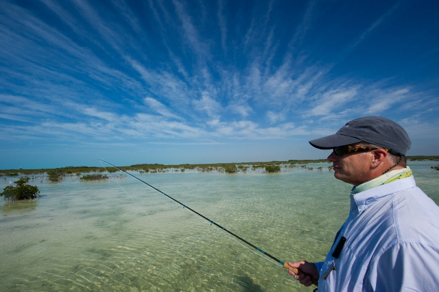 Bonefishing on the world famous Bahamas flats.