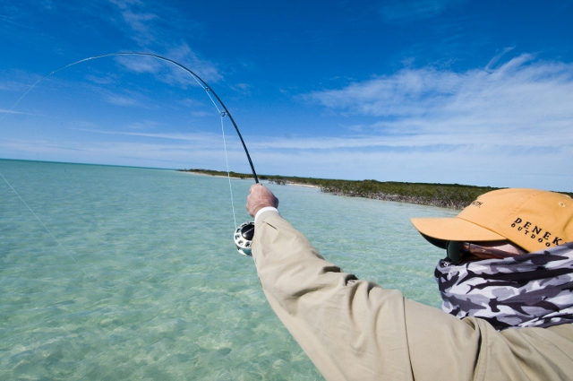 After you hook up that shallow water tailing bonefish clear that line on the real and then raise