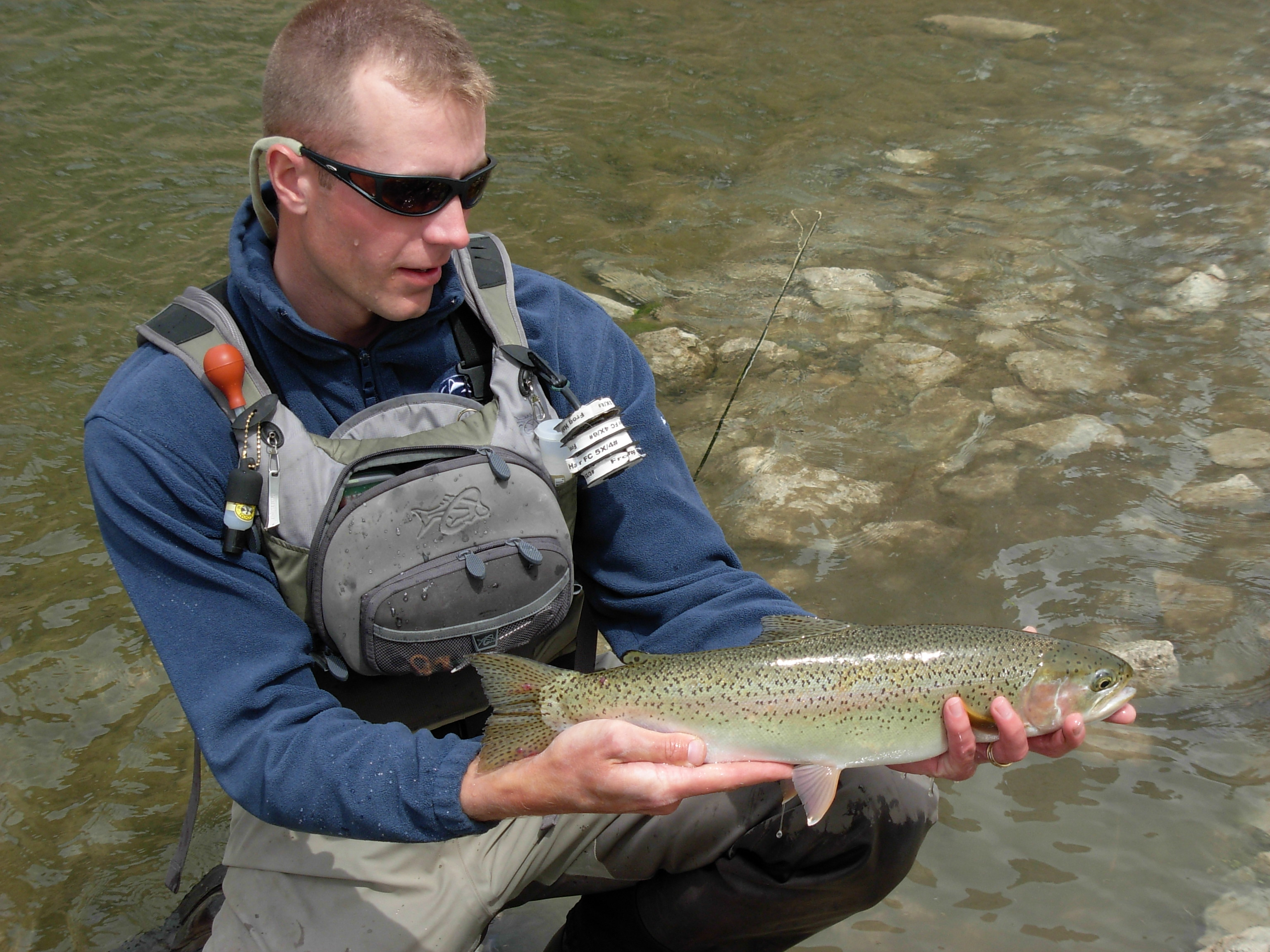 Dynamic nymphing fly fisherman for George daniel fly fishing