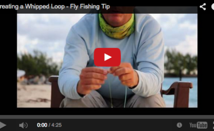 Whipping a loop with fly tying thread can take some patience to learn. This video breaks that