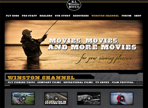 Winston Rods' New Site: 100 iPhone and iPad Films