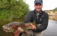 Two Yurt rainbows average 18 to 22 inches and 4 to 6 pounds. No one has fished the remote wilderness river since 2008.