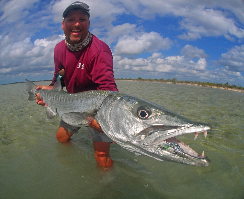 A barracuda on the flats can be tuff at times, but not if you go to the Bahamas.  This