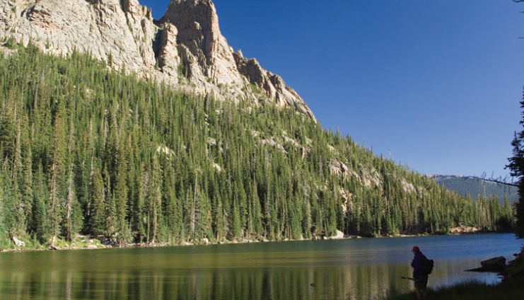 Hiking for native greenbacks in Colorado's Rocky Mountain National Park.
