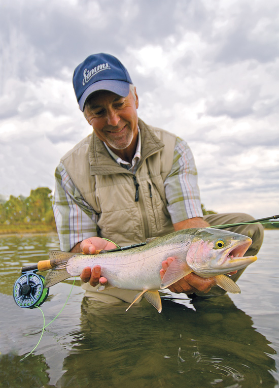 Fluorescent pink or orange parachute posts can help you pick out your fly on big rivers, and the