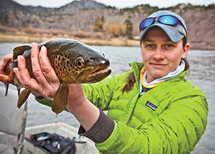 An industry nod to the small but growing market of female fly fishing outerwear.