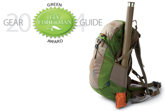 One of the new products using recycled materials is the Fishpond Black Canyon backpack.
