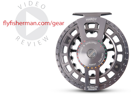 Green means go on the color-coded drag system of the new Hardy Ultralite SDS reel.