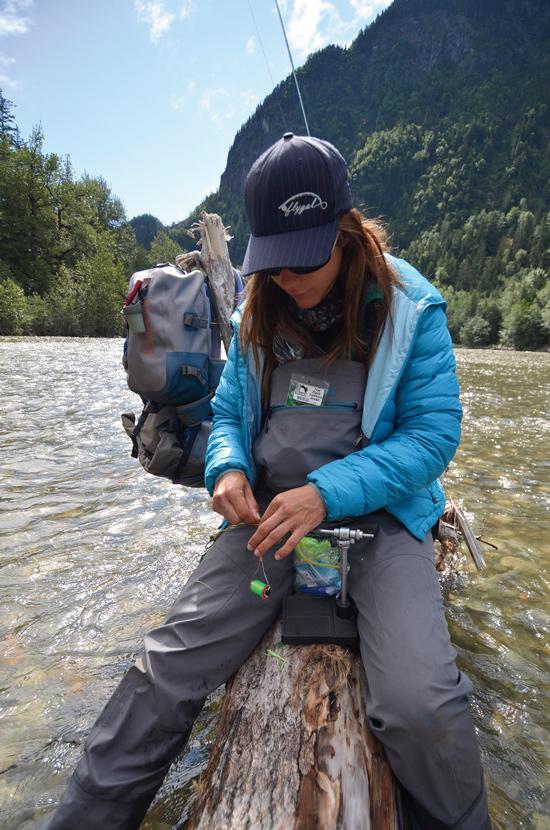 Female Fly Fishing Outerwear In Fisherman