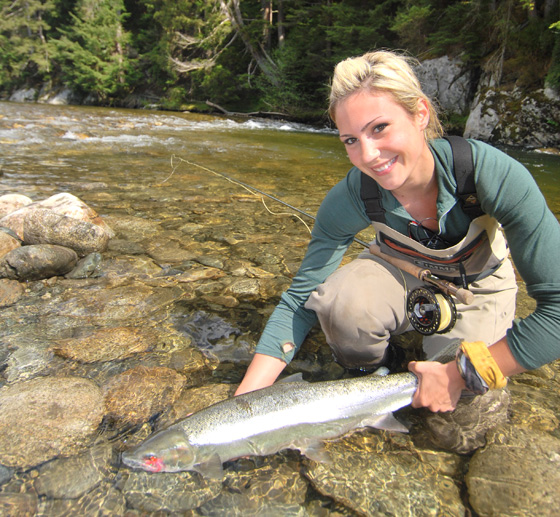 CBS Sports is airing a profile of fly fisher April Vokey during the Nov. 6 episode of 60 Minutes Sports on Showtime.