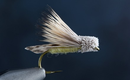 Fly tying the Letort Hopper.