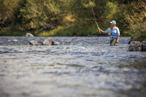 Female-Wading-Fly-Casting-Fly-Fisherman