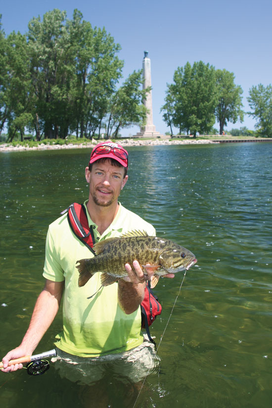 Flats bass fly fisherman for Lake erie shore fishing