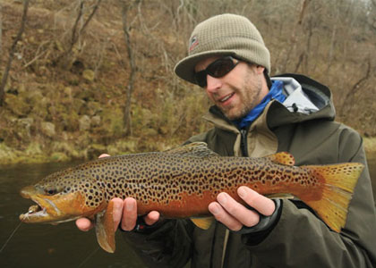 Fly fishing with streamers fly fisherman for Fly fishing iowa