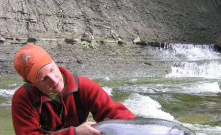 Elk Creek, PA fall steelhead. ross Purnell photo
