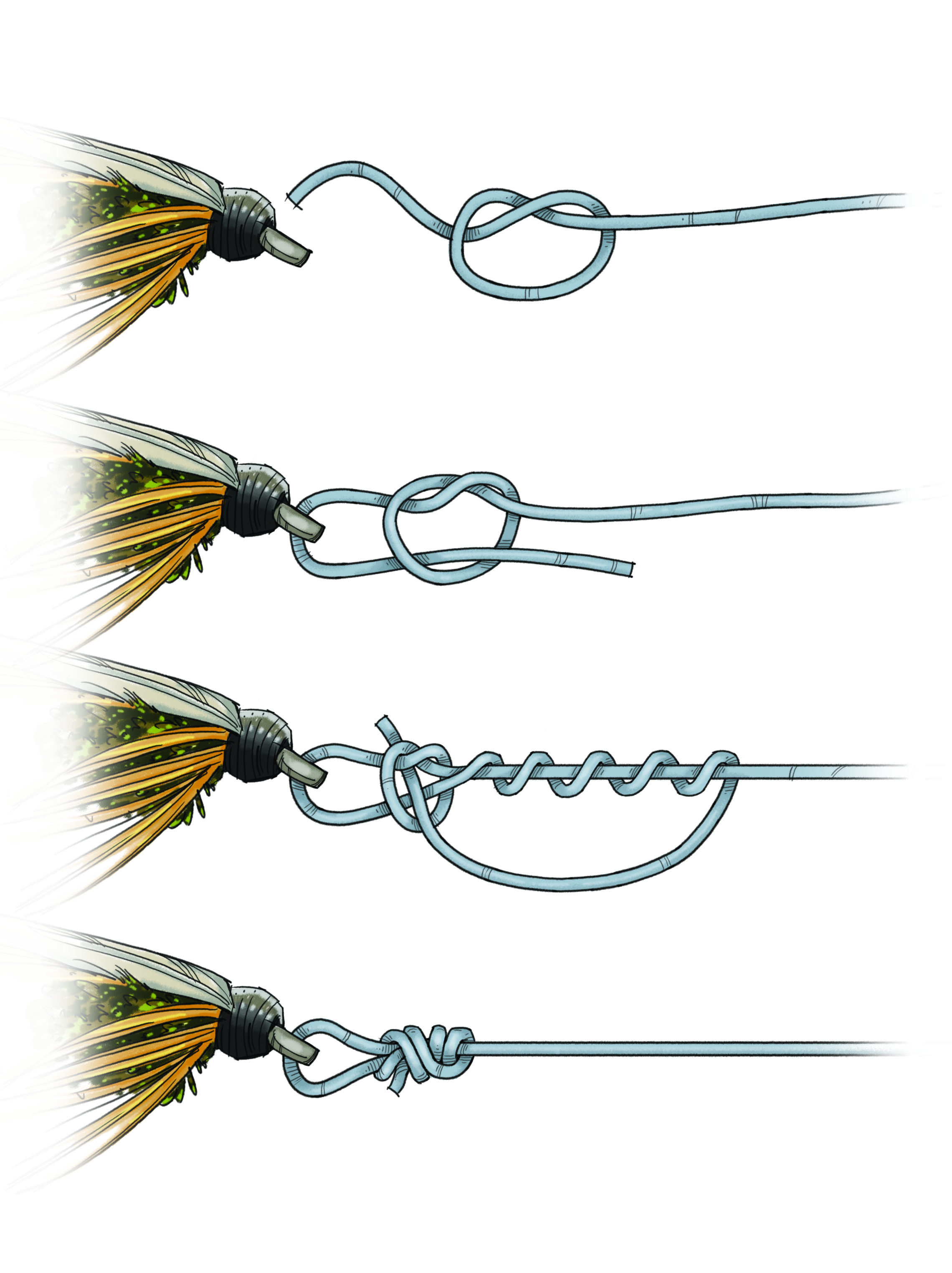 What knot you use for tying streamers to tippet page 3 for Fly fishing knots